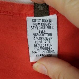 XCVI Dresses - XCVI Orange Fleur Ruched Skirt Dress